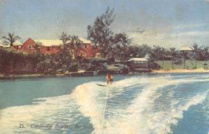 Bermuda Cambridge Beaches Water Skiing Vintage Postcard JD933991
