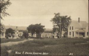 East Union ME Looking Westc1910 Real Photo Postcard