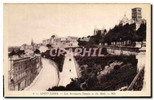 Postcard Old Angouleme Desaix Remparts and south