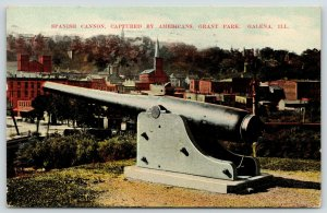 Galena Illinois~Grant Park~Spanish Cannon Close Up~Captured in War~Skyline~1911