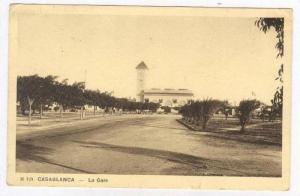 Casablanca, Morocco, 1910s La Gare, Train Station