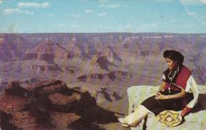 Arizona Grand Canyon National Park View From El Tovar Hotel 1956 Fred Harvey