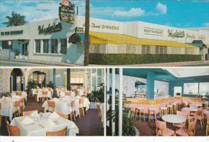 Florida West Palm Beach Hudgins Sea Food Restaurant 1969