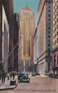 Illinois Chicago LaSalle Street Looking South 1949