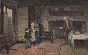 TUCK 1531 , England , PU-1901; English Cottage Homes, Grandfather's Birthday