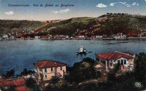 View of Bebek on the Bosphorus, Constantinople, Turkey, Early Postcard, Unused
