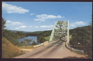 Gulf Bridge Connecticut River Brattleboro Vermont Vintage Postcard