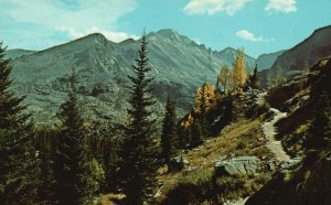 Rocky Mountain Nat'l Park, CO, Long's Peak, 1955 Chrome Vintage Postcard g8373