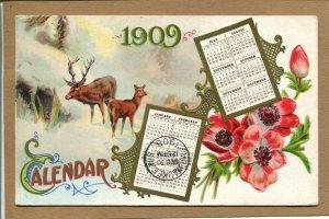 Postcard 1909 Calendar Postcard New York NY c1908 225H
