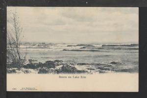 Storm on Lake Erie Postcard