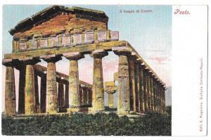Italy Pesto Templo di Cerere Temple of Ceres Paestum Postcar