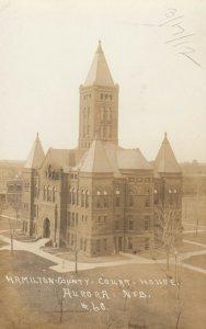 RP: AURORA , Nebraska , 1900-10s ; Court house