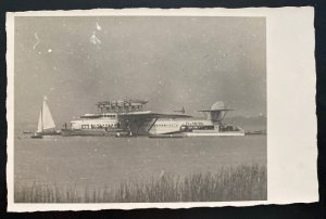 Mint Real Picture Postcard Dornier DOX Giant Seaplane Shortly After The Start B