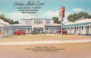 Dunn North Carolina Hodges Motor Court Vintage Postcard JI658084