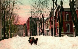 Vtg Postcard 1906 Montreal Canada - Mountain Street in Winter UDB