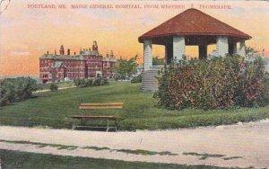 Maine Portland Maine General Hospital From Western 1908