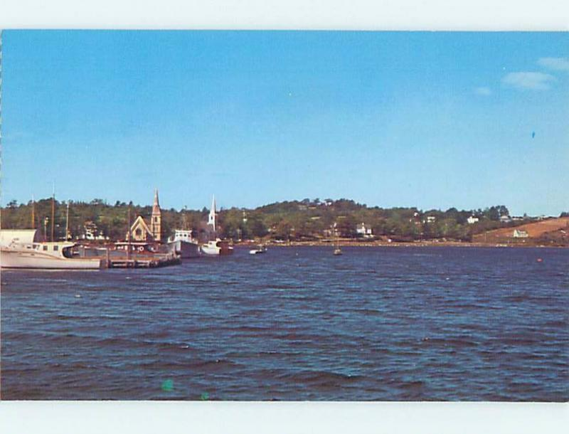 Pre-1980 BUILDINGS ON SHORELINE Mahone Bay Near Lunenburg & Bridgewater NS F4247