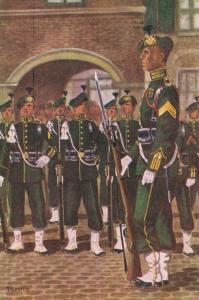 Military postcard Garderegiment Jagers Ceremoniële tenue 02.14