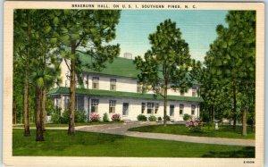 Southern Pines, North Carolina Postcard BRAEBURN HALL on U.S. 1 Linen c1940s