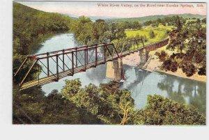 PPC POSTCARD ARKANSAS EUREKA SPRINGS WHITE RIVER VALLEY ON THE ROAD BRIDGE