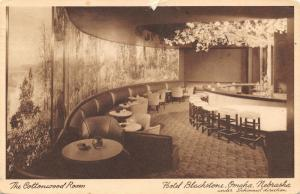 Omaha Nebraska~Hotel Blackstone~Cottonwood Room Cocktail Lounge~Bar~1949 Sepia