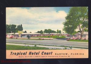 BARTOW FLORIDA TROPICAL HOTEL COURT VINTAGE LINEN