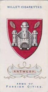 Wills Vintage Cigarette Card Arms Of Foreign Citys No. 18 Antwerp 1912