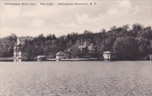 New York Adirondack Mountains Picturesque Shore Line Star Lake Albertype