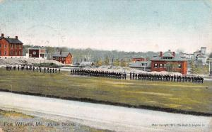 Fort Williams Maine Parade Ground Street View Antique Postcard K56585