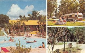Leesburg Florida~Holiday Travel Park Resort~People @ Swimming Pool~Camping~1970s