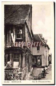 Postcard Old Honfleur de l & # 39Homme Wood