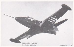 U S Navy Grumman Panther Jet Fighter Photo