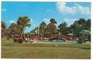 Bridge over pool, South of the Border, South Carolina, 40-60s