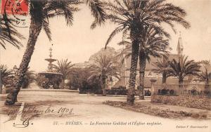 France Hyeres La Fontaine Godillot et l'Eglise Anglaise Church
