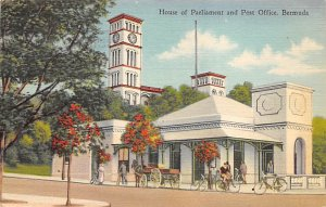 House of Parliament and Post Office Bermuda 1928