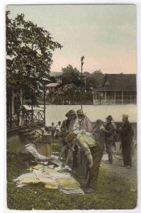 Street Store Seller Panama Canal Zone 1910c postcard
