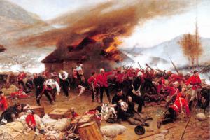 Postcard, The Defence of Rorke's Drift 1879 by Alphonse de Neuville Zulu War 46L