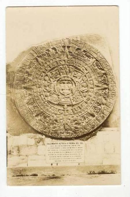 Rp Calendario Azteca O Piedra Del Sol Mexico 1920 1940s Hippostcard