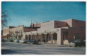 Santa Fe, New Mexico, View of The First National Bank, West Side of Plaza, 1959