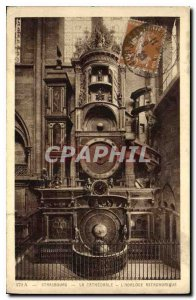 Postcard Old Strasbourg's Cathedral Astronomical Clock