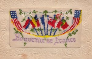 WAR 1914-18 ; Flags of Allies ; Embroidered