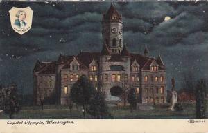 Capitol Olympia at night, Portrait of George Washington 1889, Washington, PU
