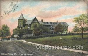 C & O Hospital, Clifton Forge, VA USA Medical Hospital, Sanitarium 1910 light...