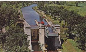 Small Boats, World Famous Hydraulic Lift Locks, Peterborough, Ontario, Canada...