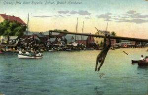 british honduras, BELIZE, Greasy Pole River Regatta (1910s)