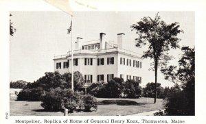 Thomaston, Maine, ME, Montpelier, Gen. Henry Knox, Unused Vintage Postcard g8257