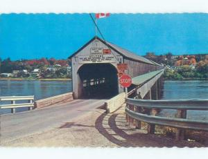 Unused Pre-1980 WORLD'S LONGEST COVERED BRIDGE Hartland To Somerville NB d3676