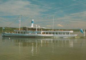 MS Herrsching Ammersee Obb Swiss Paddle Steamer Ship Postcard