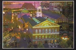 Evening At Faneuil Hall Market Place Boston Massachusetts