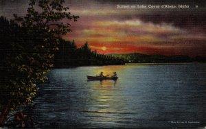 Idaho Sunset On Lake Coeur d'Alene